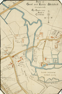 A Record of Shelford Parva by Fanny Wale P8 Traced from a map owned by King's College Cambridge