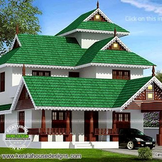 Kerala style house in 162 square meter