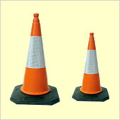 Use the large size of traffic bollard cones for marking out the dog show ring