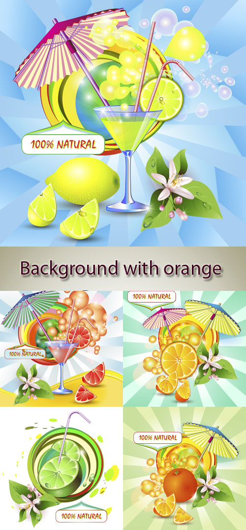 Stock: Background with orange juice