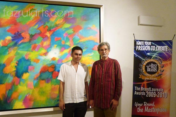 Author with Datuk Syed Ahmad Jamal on launching of 'Warna Tenaga