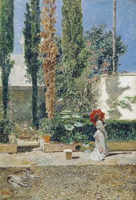 Raimundo Madrazo - Jardín de la casa de Fortuny