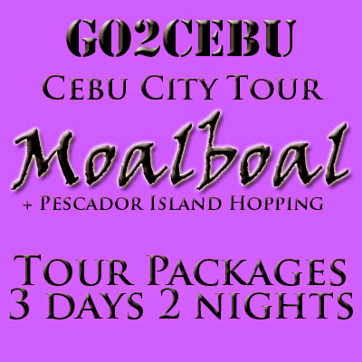 Cebu City + Moalboal + Pescador Island Hopping in Cebu Tour Itinerary 3 Days 2 Nights Package