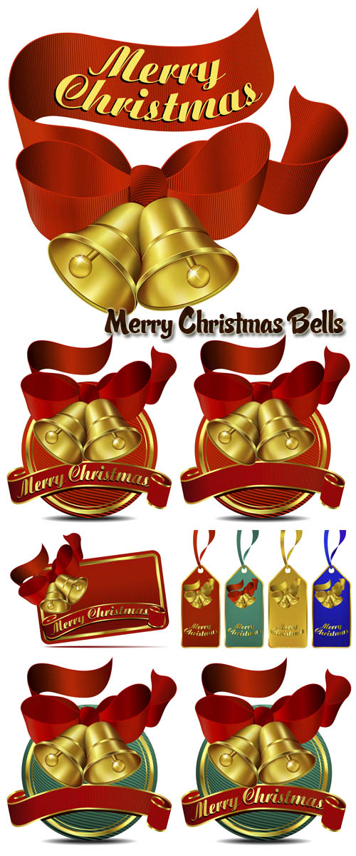 Stock: Merry Christmas Bells