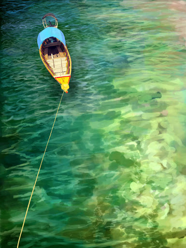 boat sketch painting