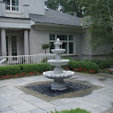 Pondless water feature fountain