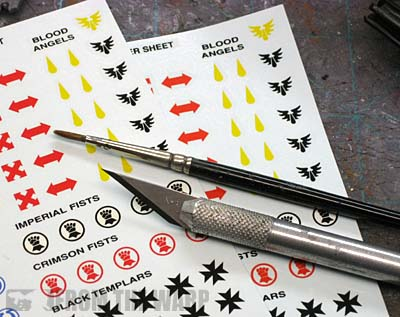 How to apply waterslide transfers decals