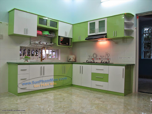 Sản xuất tủ bếp bằng gỗ ở TP HCM