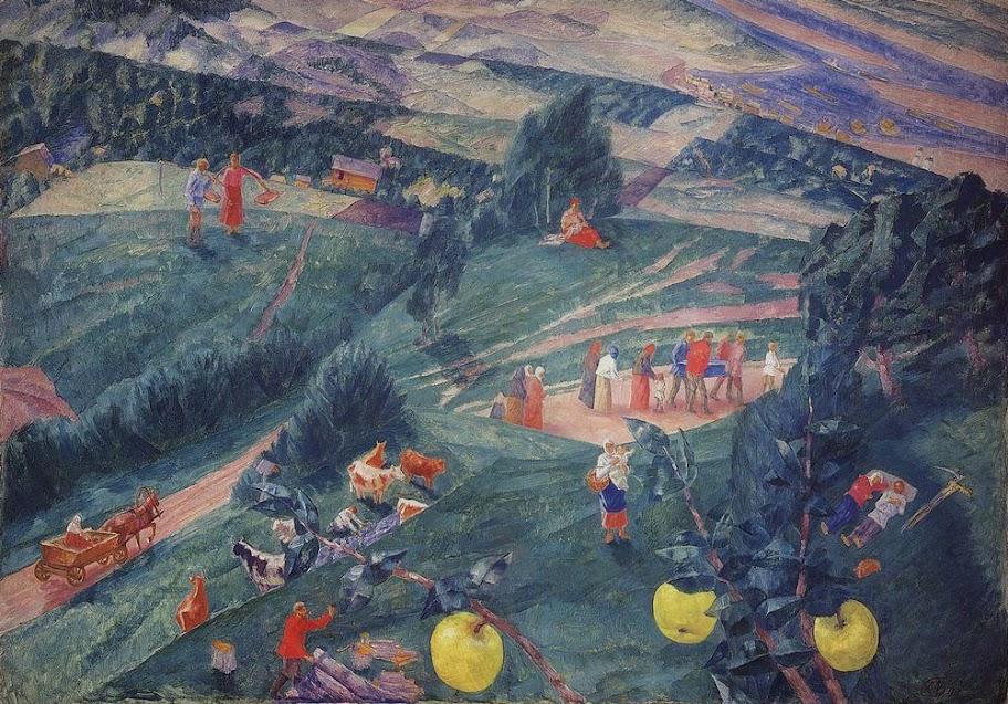 Kuzma Petrov-Vodkin - Noon. Summer. 1917
