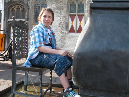 Nog even vrij in Middelburg. Kevin heeft al een stoel gevonden.