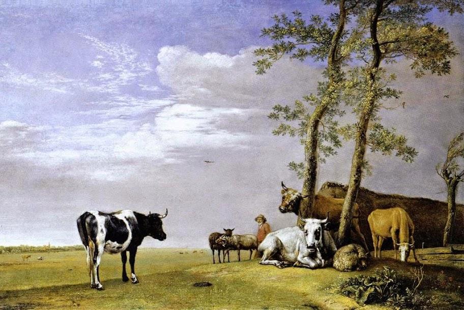 Paulus Potter - A Husbandman with His Herd