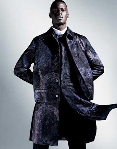 David Agbodji, de negro