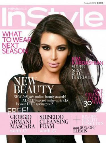 Kim Kardashian In Black For Instyle Uk August 2012