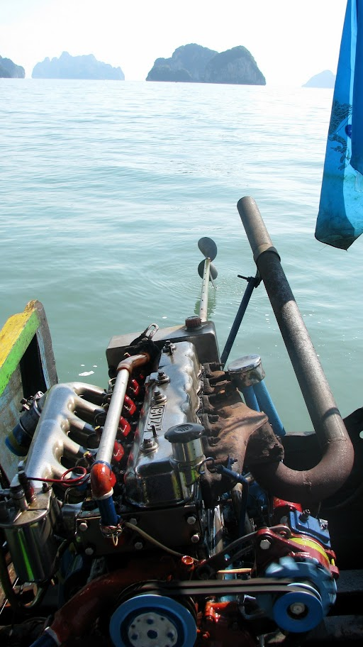 Longtail boat engine