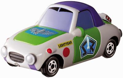 Chiếc Disney Motors DM-22 Popuet Buzz Lightyear với hai màu xanh trắng đặc trưng