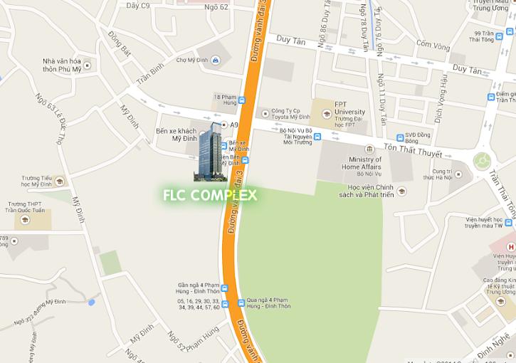 vị trí chung cư flc complex