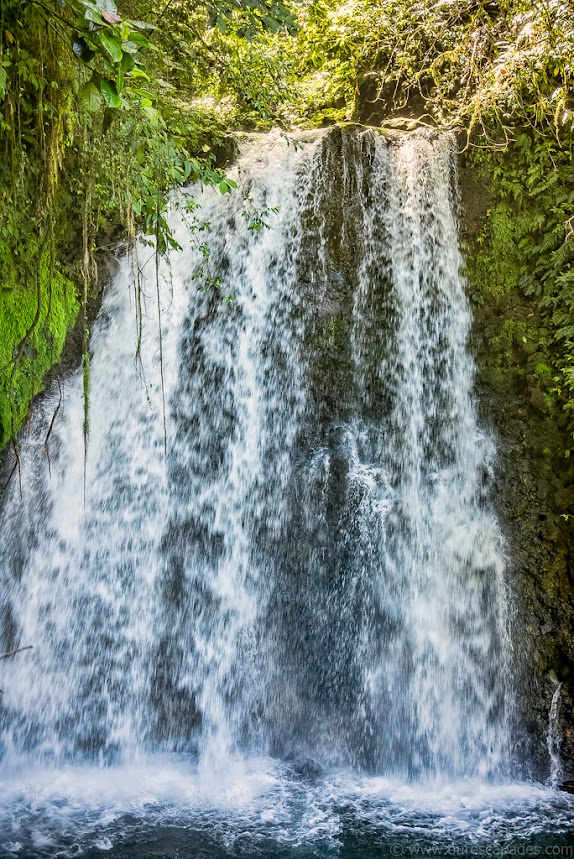 Our hike lead to this waterfall