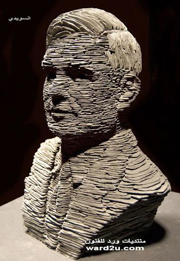 تشكيل بورتريهات من حجر الاردواز ابداع النحات Stephen Kettle