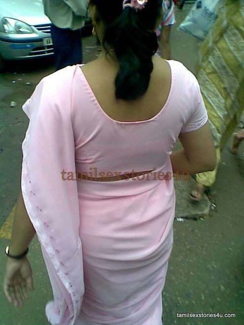 Real Life Aunty Blouse Back Images 119