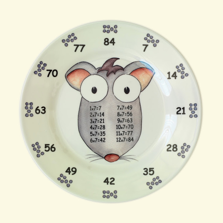 Set of 12 Times Table Plates