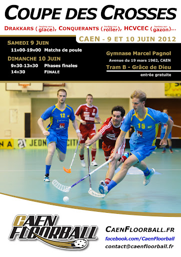 Affiche de la Coupe des Crosses / Caen Floorball de juin 2012