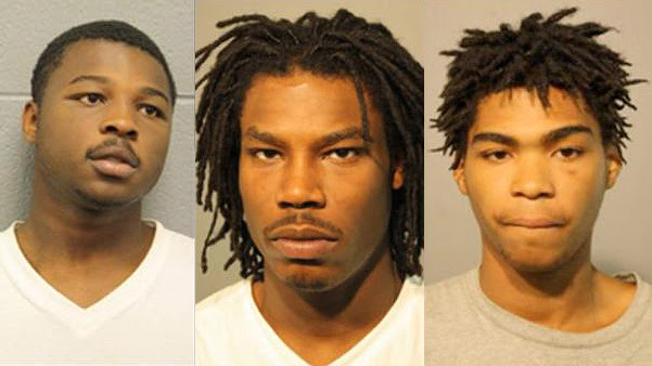 Denzel Clay, Ramel Stevens and Vanburen-Robins accused of a gang rape in Chicago.