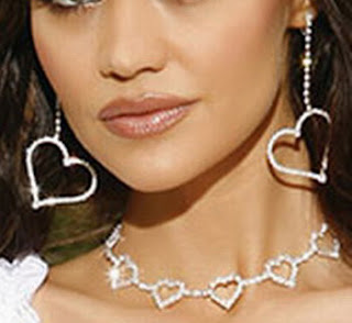 Heart Necklace & Earrings Set