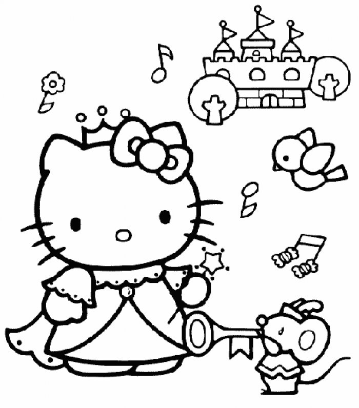 Coloriages A Imprimer Coloriage Hello Kitty