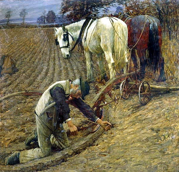 Henry Herbert La Thangue - The last furrow (1895)