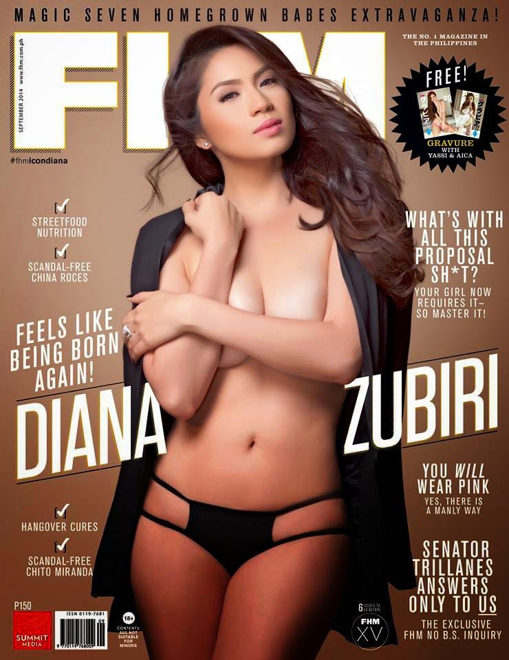 Diana Zubiri FHM September 2014 Cover Girl