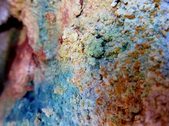 Colorful mineral growth