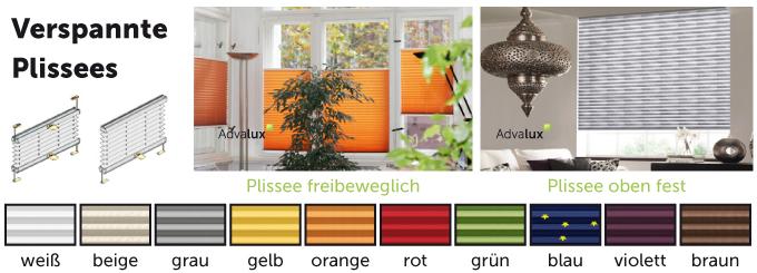 Plissee online wählen bei Advalux.de