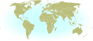 World map marking dependent territories and partially recognized sovereign states which have recognized National Olympic Committees and are allowed by the IOC to participate in the Olympic Games