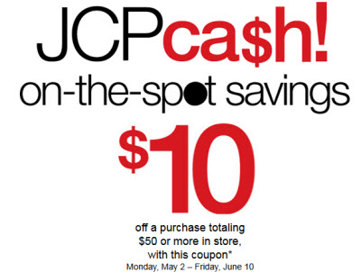 jcpenney cash coupon code