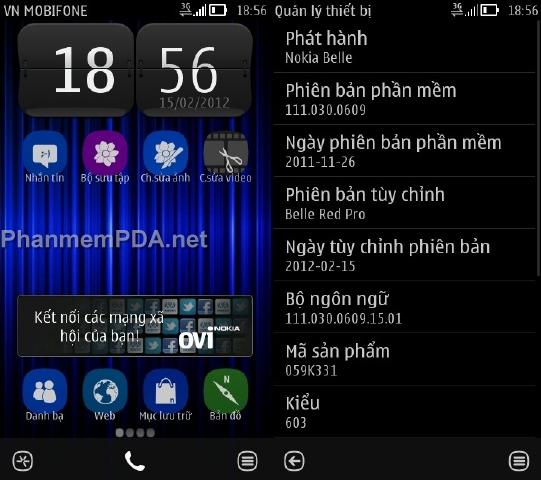 Hình ảnh CFW Symbian Belle trên 603