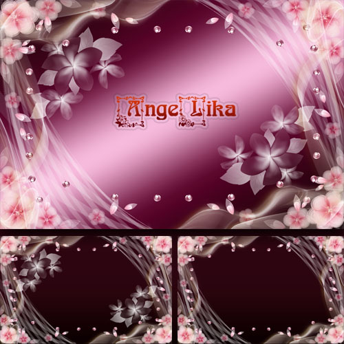 Цветочная рамка в нежно-розовых тонах - В душе весна