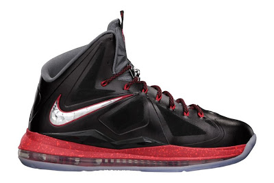 nike lebron 10 gr black white red 3 01 Nike LeBron X+ Enabled Pressure Available Now!
