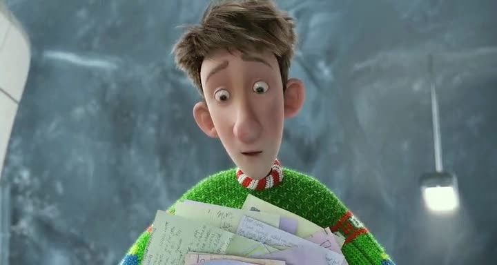 Screen Shot Of Hollywood Movie Arthur Christmas (2011) In Hindi English Full Movie Free Download And Watch Online at Alldownloads4u.Com
