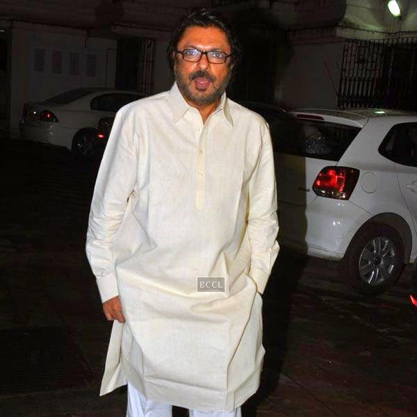 Sanjay Leela Bhansali gets clicked during the wrap-party of Bollywood movie Mary Kom, held at his residence on July 26, 2014.(Pic: Viral Bhayani)