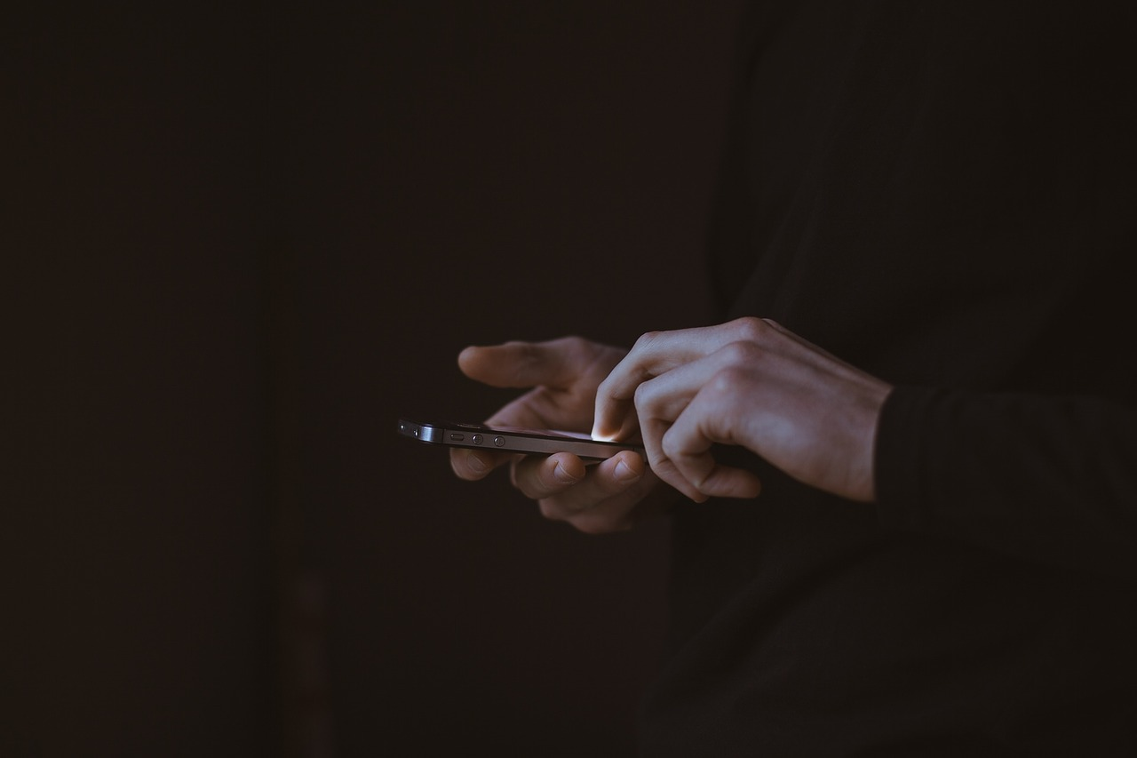 a person holding a phone