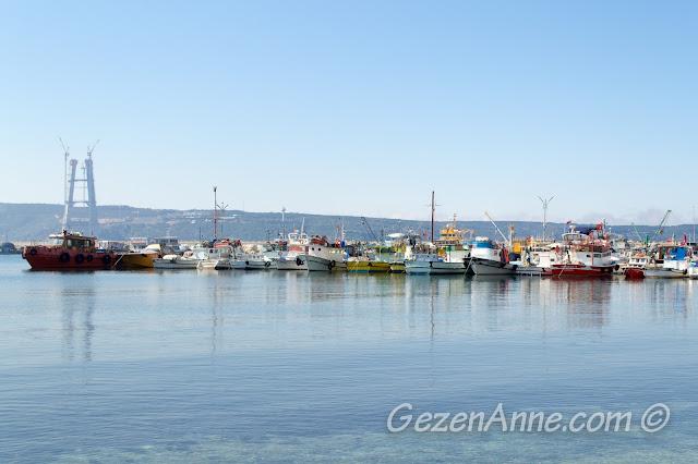 Poyrazköy limanındaki balıkçı tekneleri, İstanbul Boğazı