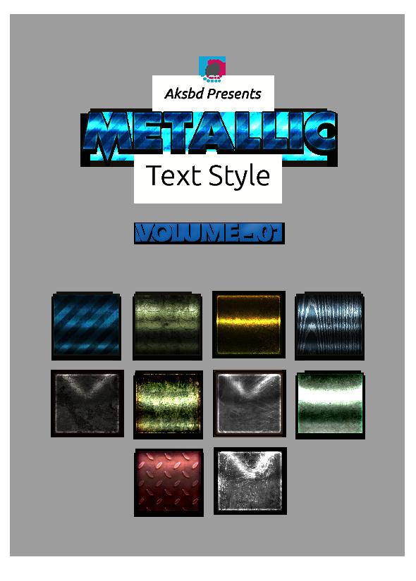 Metallic Text Styles (Vol-1)