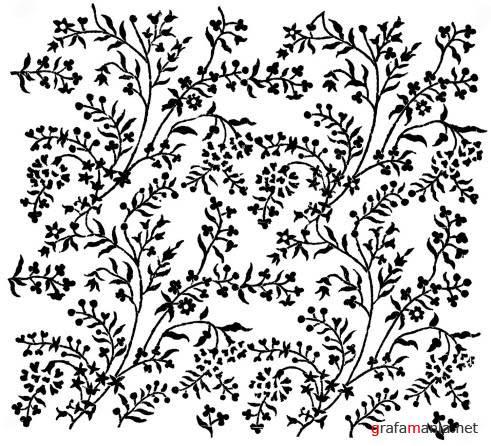 орнамент из полевых цветов