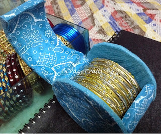 Bangle box from waste