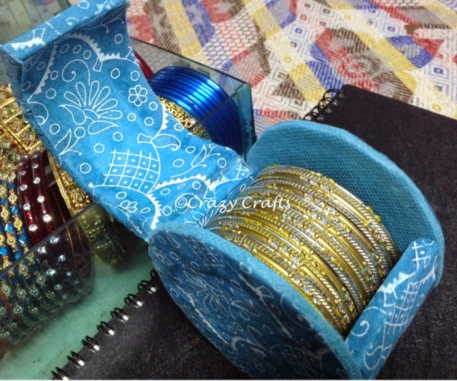 How to make a mini bangle box from an empty tape roll for Waste out of best from bangles