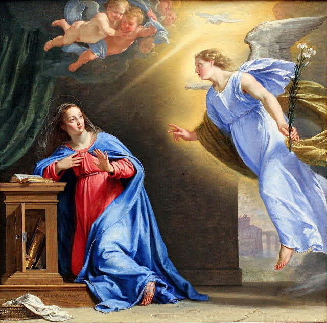 'The Anunciation' by Phillippe de Champaigne, 1644