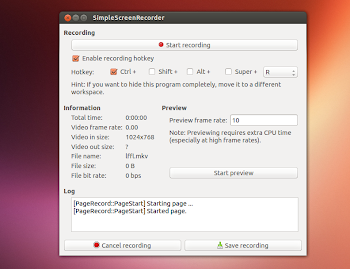 SimpleScreenRecorder in Ubuntu 13.04 Raring