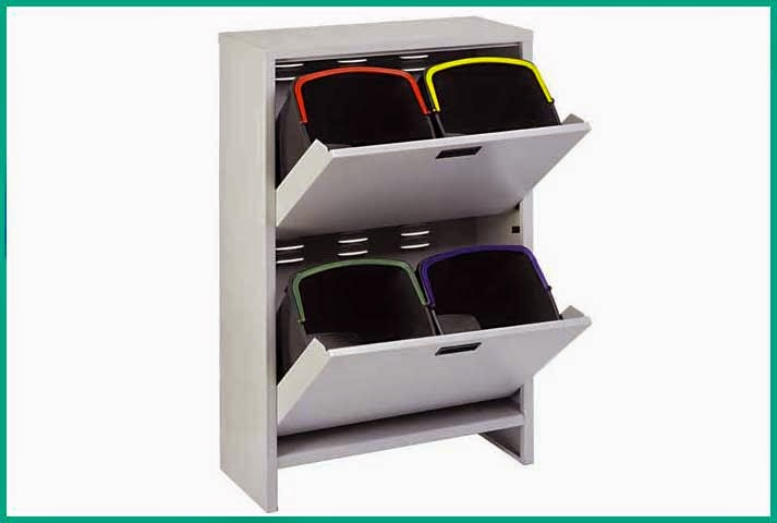 Mobiletto raccolta differenziata salvaspazio h 100 cm con 4 secchi interni 20lt ebay - Mobiletto raccolta differenziata ...