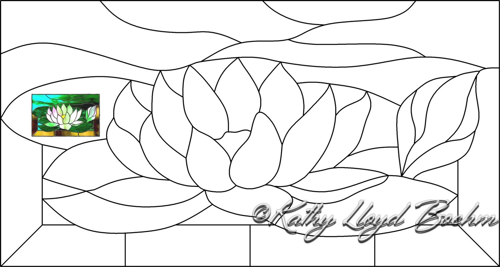 Boehm Stained Glass Blog Water Lily Window Pattern Cut