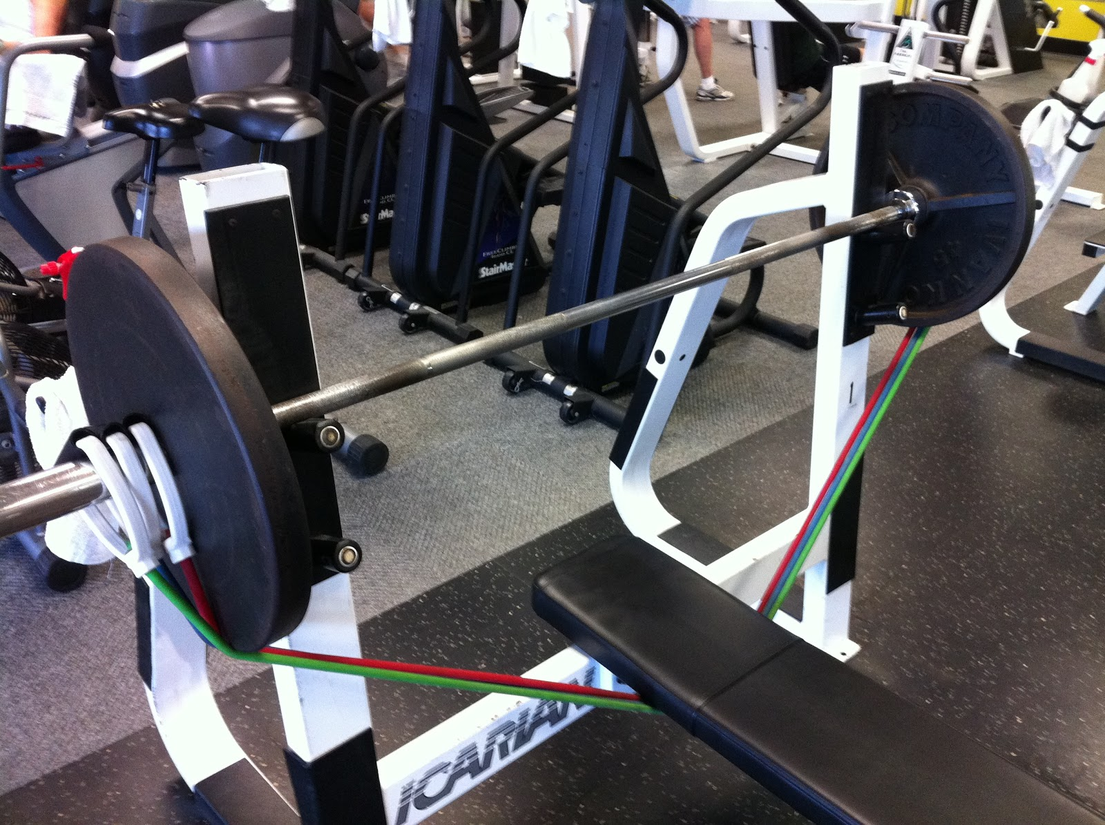 the 365th idea bench press with resistance bands